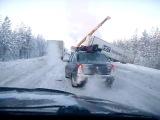 АГАТ Mitsubishi - авария по дороге в Петрозаводск